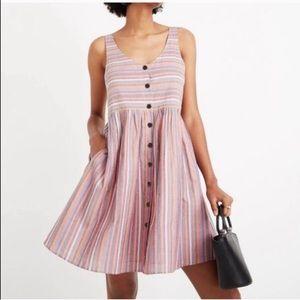 Madewell Rainbow Stripe Tank Dress